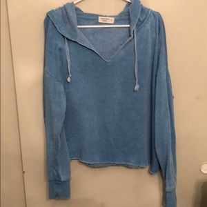 Ocean drive women's size large cut up hoodie soft